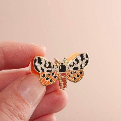 Garden Tiger Moth Enamel Pin Badge