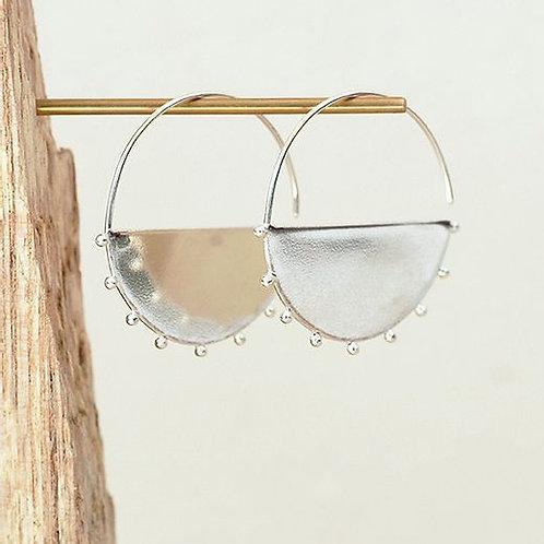 Large Solid Arc hoops Earrings