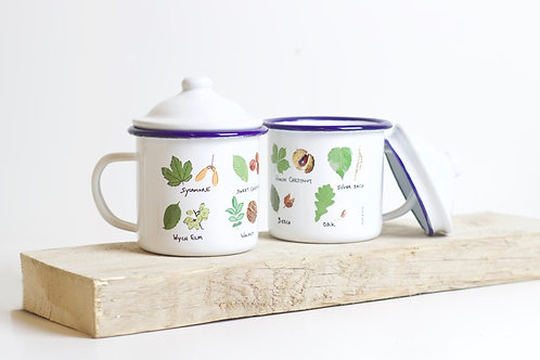 Tree Identification | Enamel Mug With Lid