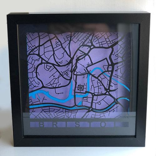 Bristol Black Frame, Black Roads, Purple Background