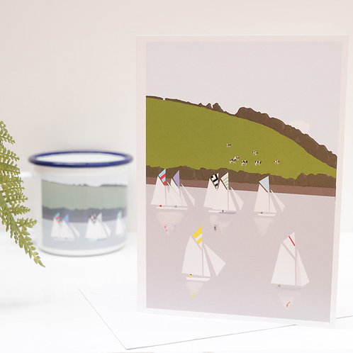 Weekend Explorer - Boat Greetings Card