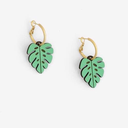 Monstera Leaf Earrings