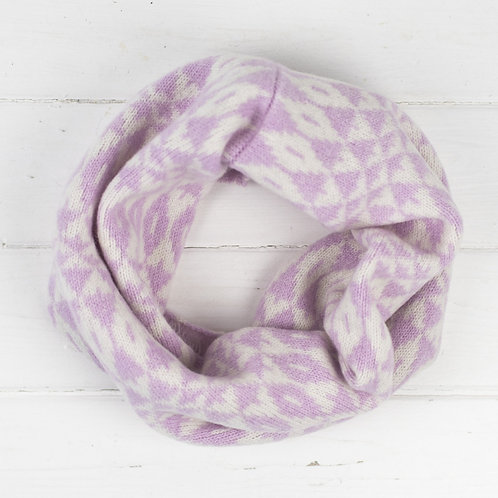 Mirror mini cowl - pink/white