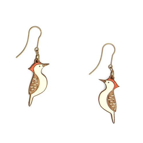 Woodpecker Hook Earrings