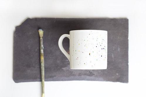 Multicolourd Splatter Bone China Mug