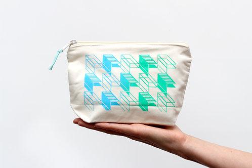 Blue Green Zip Bag