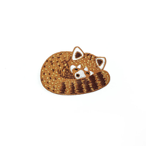Red Panda Embroidered Iron-on patch