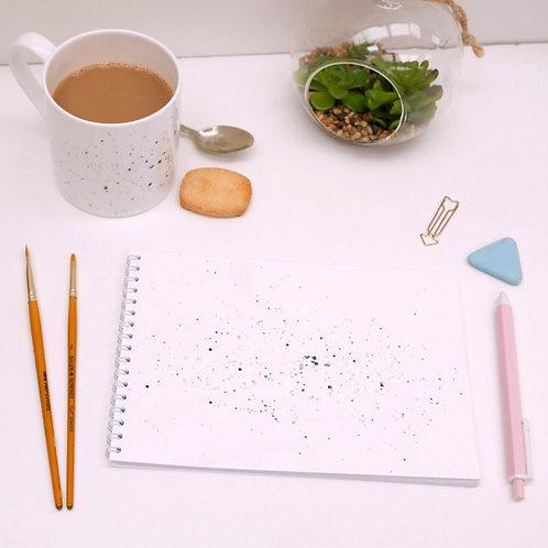 Paint Splatter Notebook