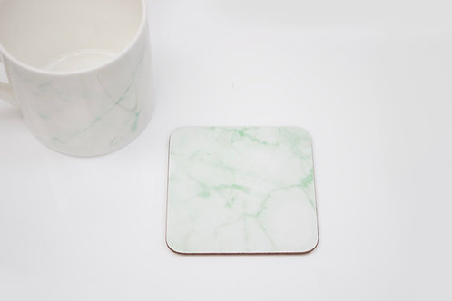 Green Marble Coaster