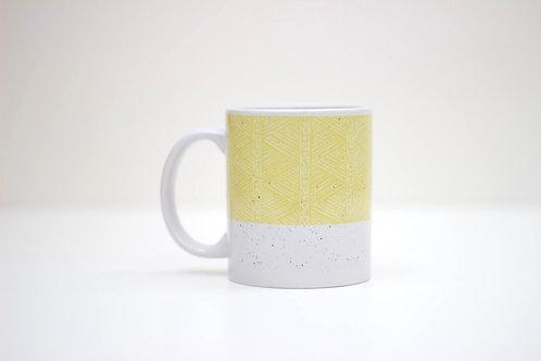 Sgraffito Sand Ceramic Mug
