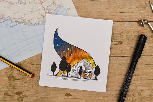 VW Campfire Card