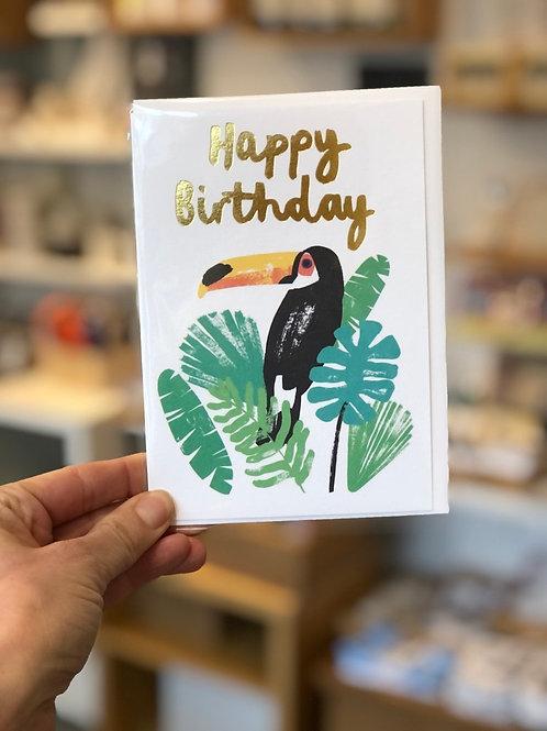 Happy Birthday Toucans Card