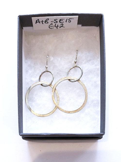 Circle/Circle Paper Print Hoop Earrings