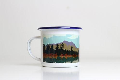 Seconds Lake enamel mug