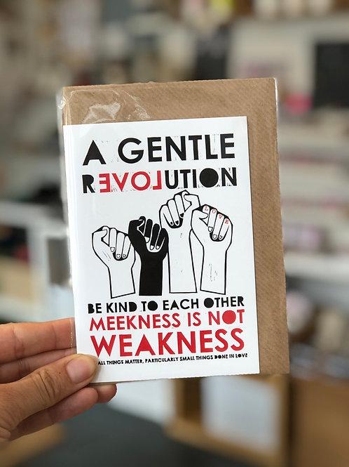 A gentle Revolution Card