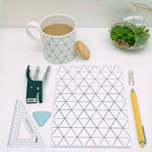 Geo Triangle Design Notebook