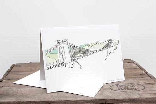 Bristol Minimal Suspension Bridge Card