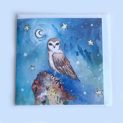 Night time owl Card