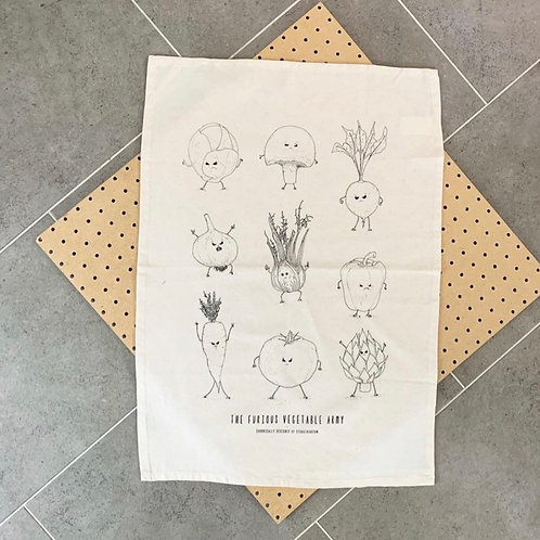 Furious Veg Tea Towel