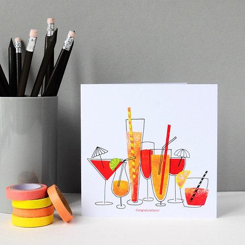 Congratulations cocktails Card