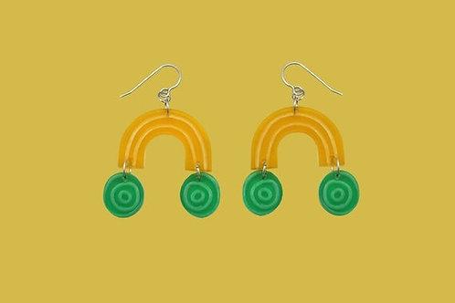 Sweetie Dangle Earrings -Yellow