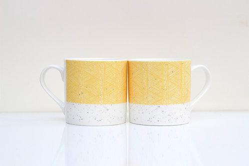Sand Sgraffito design Bone China Mug