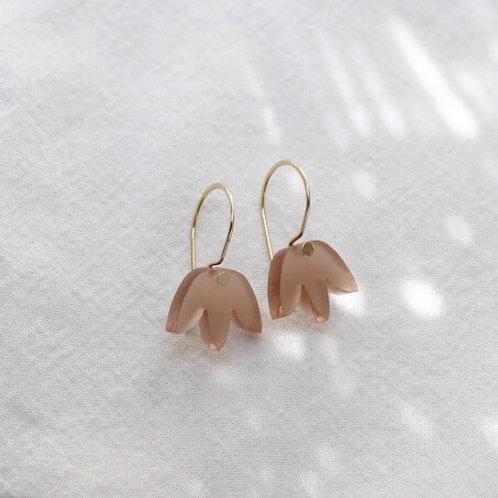 Mini Matisse Hoop Earrings - Natural