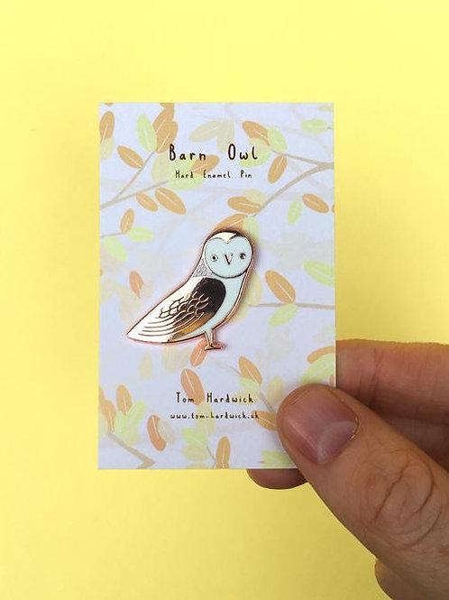 Barn Owl Enamel Pin