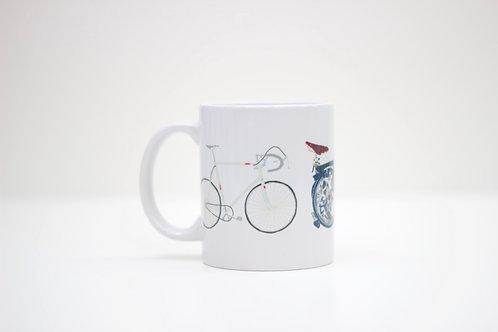 Three Bikes Ceramic Mug