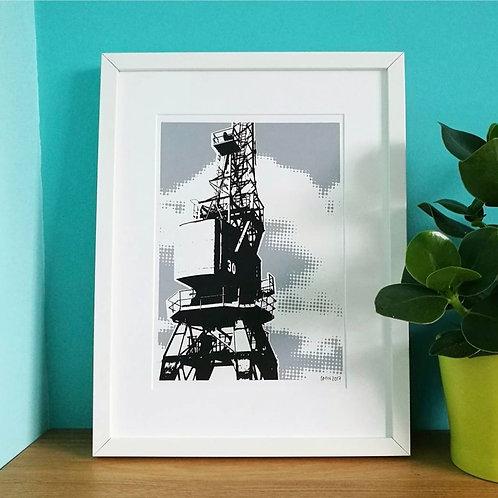 Grey Crane A4 Print (Unframed)