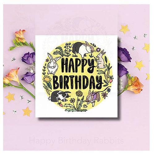 Happy Birthday - Rabbits