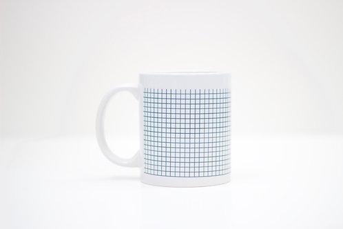 Grid Ceramic Mug