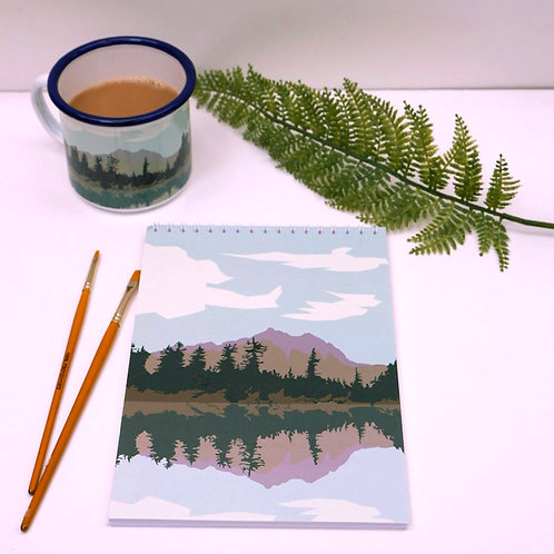 Lake and Mountains Notebook