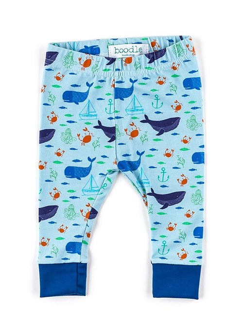 Whale organic baby leggings