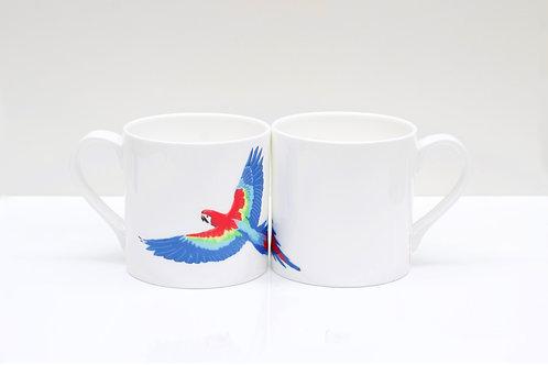 Parrot Bone China Mug