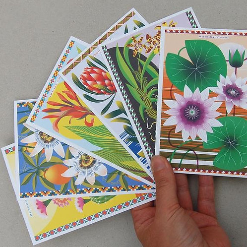Postcard Pack - Flowers of the World