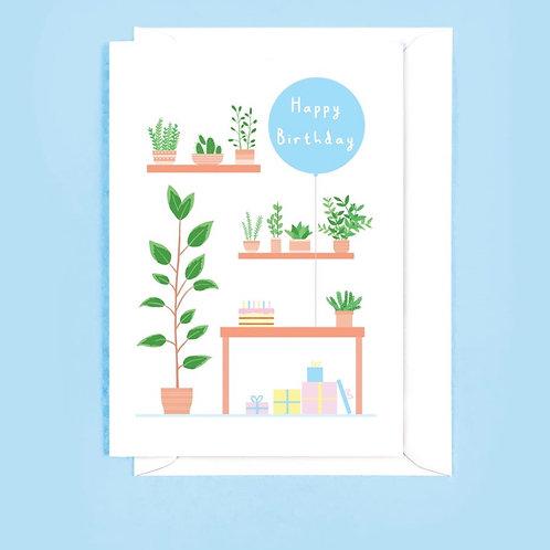Happy Birthday Plants Card