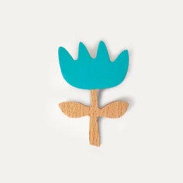 Flower Brooch - Blue