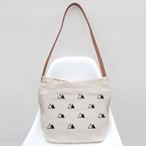 Triangle Design Organic Cotton Handbag