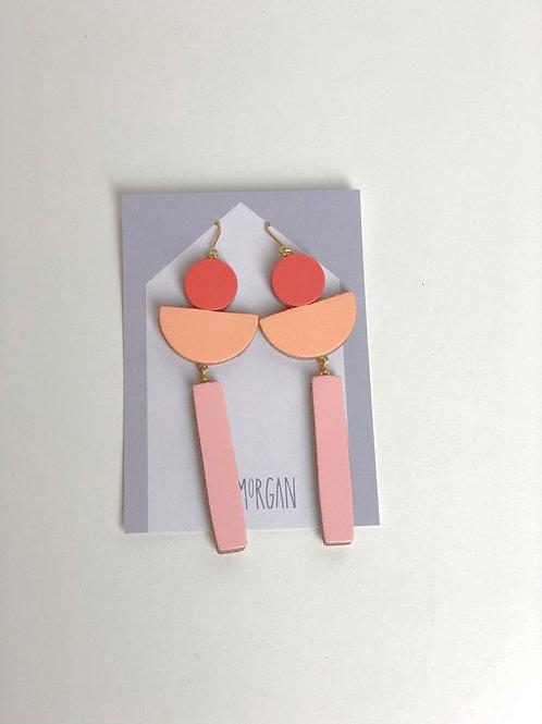 Arc Leather Earrings