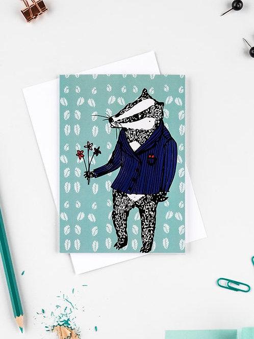 Bob the badger card