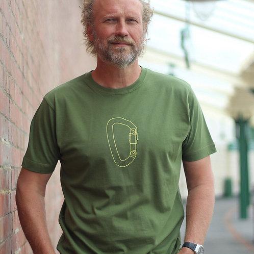 Carabiner climbing Green T-shirt
