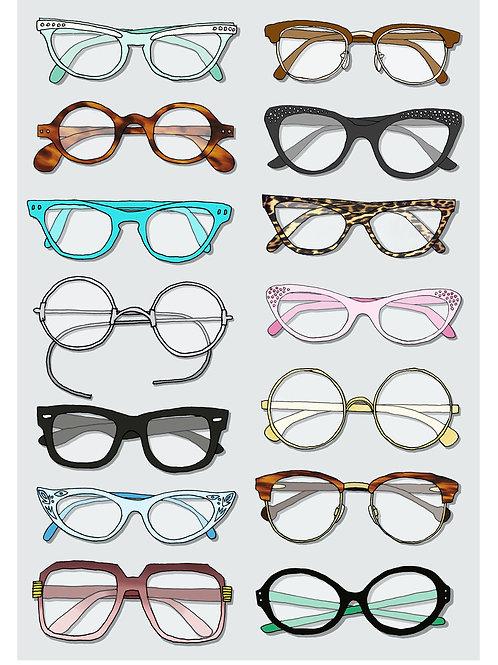 Glasses Print - A4 & A3 size