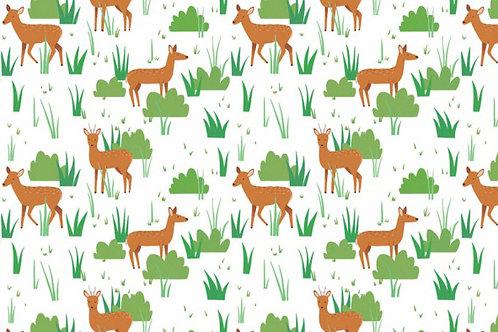 Deer Pattern Postcard