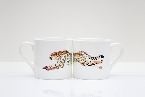 Cheetah  Bone China Mug