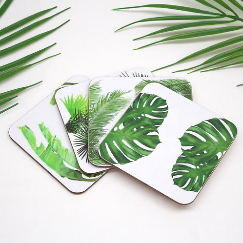 Tropical Leaf Coaster Collection
