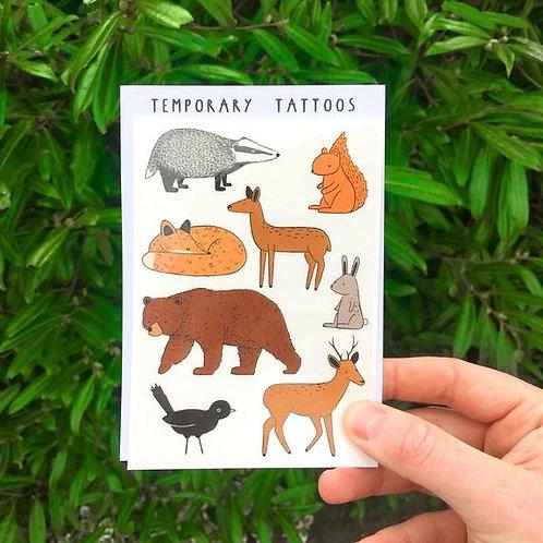 Woodland Animals Tattoos