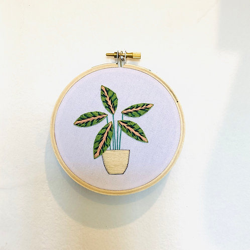 House Plant Embroidery Hoop