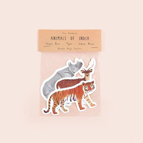 Animals of India Stickers