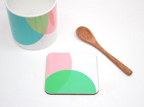 Pink|Green Dip Coaster